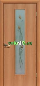 Двери ламинированные остекленные