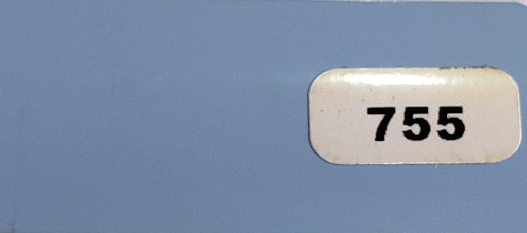 Жалюзи горизонтальные серо-голубой глянец 755 купить по низкой цене в интернет-магазине okno19.ru