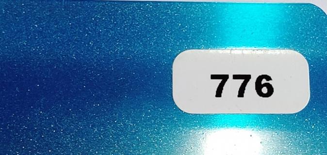 Жалюзи горизонтальные ярко-голубой металлик 776 купить по низкой цене в интернет-магазине okno19.ru