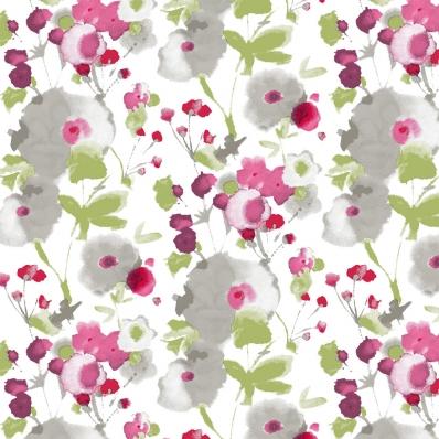 Рулонные шторы АКВАРЕЛЬ 0225 белый купить по низкой цене в интернет-магазине okno19.ru