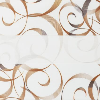 Рулонные шторы-зебра АВАНГАРД 2870 коричневый купить по низкой цене в интернет-магазине okno19.ru