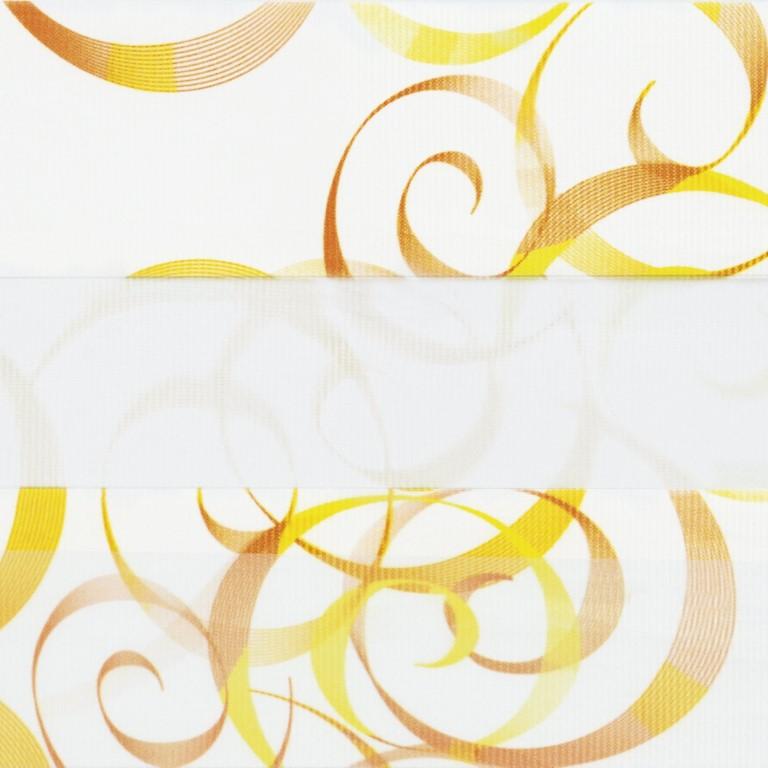 Рулонные шторы-зебра АВАНГАРД 3499 оранжевый купить по низкой цене в интернет-магазине okno19.ru