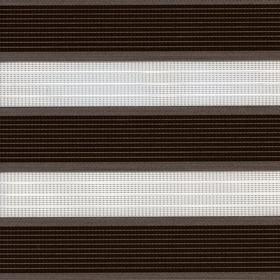 Рулонные шторы-зебра АДАЖИО 2870 коричневый купить по низкой цене в интернет-магазине okno19.ru