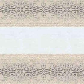 Рулонные шторы-зебра АРАБЕСКА 2259 магнолия купить по низкой цене в интернет-магазине okno19.ru