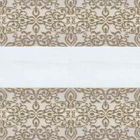 Рулонные шторы-зебра АРАБЕСКА 2406 бежевый купить по низкой цене в интернет-магазине okno19.ru