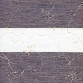 Рулонные шторы-зебра ВАЛЕНСИЯ 1852 серый купить по низкой цене в интернет-магазине okno19.ru