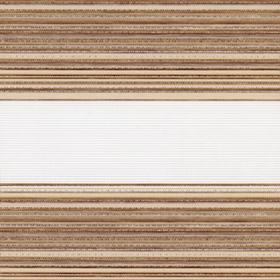 Рулонные шторы-зебра ДАКОТА 2868 св. коричневый купить по низкой цене в интернет-магазине okno19.ru