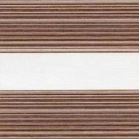 Рулонные шторы-зебра ДАКОТА 2870 коричневый купить по низкой цене в интернет-магазине okno19.ru