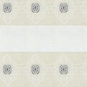Рулонные шторы-зебра ДАМАСК 0225 белый купить по низкой цене в интернет-магазине okno19.ru