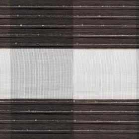 Рулонные шторы-зебра КЛЕТКА 2871 темно-коричневый купить по низкой цене в интернет-магазине okno19.ru