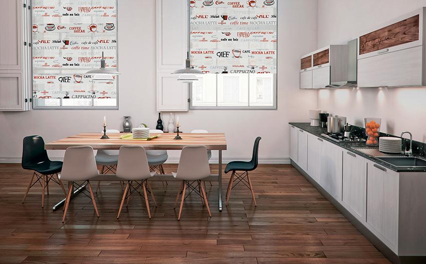 Рулонные шторы-зебра КОФЕ 2868 светло-коричневый купить по низкой цене в интернет-магазине okno19.ru