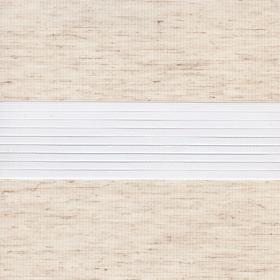 Рулонные шторы-зебра ЛЕН 2261 светло-бежевый купить по низкой цене в интернет-магазине okno19.ru