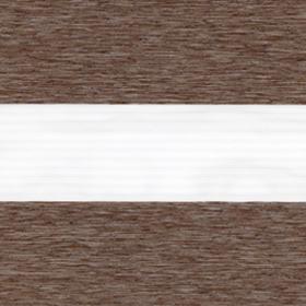 Рулонные шторы-зебра ЛОФТ ВО 2870 коричневый купить по низкой цене в интернет-магазине okno19.ru