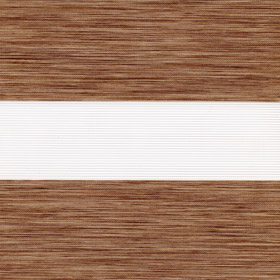 Рулонные шторы-зебра МОНТАНА 2868 св. коричневый купить по низкой цене в интернет-магазине okno19.ru