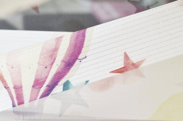 Рулонные шторы-зебра ОБЛАКА 4096 розовый купить по низкой цене в интернет-магазине okno19.ru