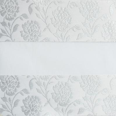 Рулонные шторы-зебра ПЕРСИЯ 0225 белый купить по низкой цене в интернет-магазине okno19.ru