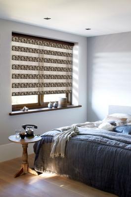 Рулонные шторы-зебра ПЕРСИЯ 2870 коричневый купить по низкой цене в интернет-магазине okno19.ru