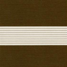 Рулонные шторы-зебра СТАНДАРТ 2870 коричневый купить по низкой цене в интернет-магазине okno19.ru