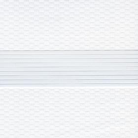 Рулонные шторы-зебра ТЕТРИС 0225 белый купить по низкой цене в интернет-магазине okno19.ru