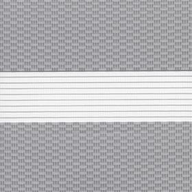 Рулонные шторы-зебра ТЕТРИС 1852 серый купить по низкой цене в интернет-магазине okno19.ru
