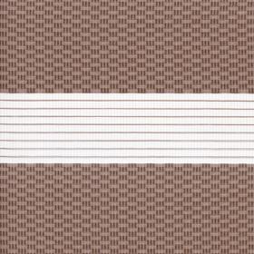 Рулонные шторы-зебра ТЕТРИС 2746 темно-бежевый купить по низкой цене в интернет-магазине okno19.ru