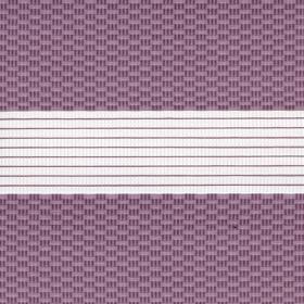 Рулонные шторы-зебра ТЕТРИС 4284 лиловый купить по низкой цене в интернет-магазине okno19.ru