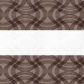 Рулонные шторы-зебра ФЛЕКС 2870 коричневый купить по низкой цене в интернет-магазине okno19.ru