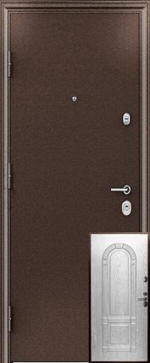 Дверь 3К - 3D Металл/МДФ Беленый дуб (960*2050*90*1,8 мм) правая /минплита/ купить по низкой цене в интернет-магазине okno19.ru