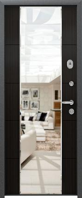 Дверь 3К-MIRROR Металл/МДФ Миландж темный (860*2050*90*1,8 мм) правая /минплита/ купить по низкой цене в интернет-магазине okno19.ru