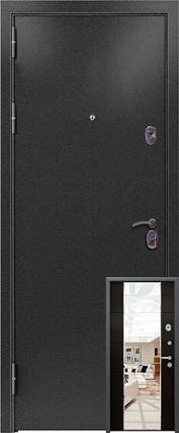 Дверь 3К-MIRROR Металл/МДФ Миландж темный (960*2050*90*1,8 мм) левая /минплита/ купить по низкой цене в интернет-магазине okno19.ru