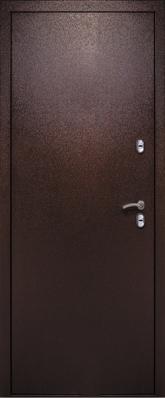 Дверь 3К-Тепло Металл/МДФ Дуб шоколад (960*2050*100*1,8 мм) левая