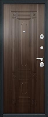 Дверь 3К-Тепло Металл/МДФ Дуб шоколад (960*2050*100*1,8 мм) правая купить по низкой цене в интернет-магазине okno19.ru