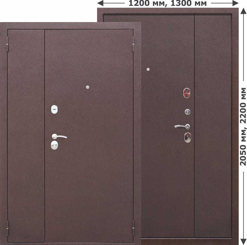 Дверь Гарда Металл/Металл (1200*2050*75*1,5 мм) левая /минеральная вата/ купить по низкой цене в интернет-магазине okno19.ru