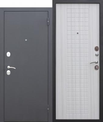 Дверь Гарда Муар Металл/МДФ Белый ясень (960*2050*60*1,5 мм) левая купить по низкой цене в интернет-магазине okno19.ru