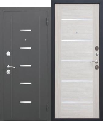 Дверь Гарда Муар Металл/МДФ Лиственница беж (860*2050*75*1,5 мм) правая купить по низкой цене в интернет-магазине okno19.ru