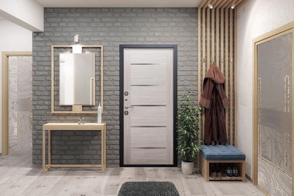 Дверь Гарда Муар Металл/МДФ Лиственница беж (960*2050*75*1,5 мм) левая купить по низкой цене в интернет-магазине okno19.ru