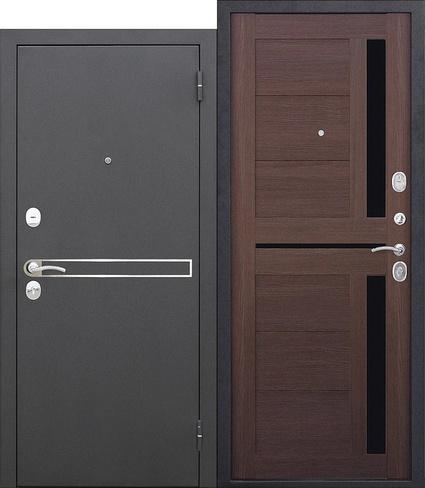 Дверь Сицилия Муар Металл/МДФ Темный кипарис (960*2050*75*1,5 мм) правая купить по низкой цене в интернет-магазине okno19.ru