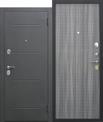 Дверь Гарда муар Металл Черный муар/МДФ Венге тобакко (860*2050*75*1,2 мм) правая /Пенополистерол/ купить по низкой цене в интернет-магазине okno19.ru