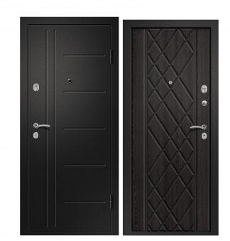 Дверь Медея 311 Металл Черный сатин/МДФ Аруба венге (880*2050*95*1,4 мм) левая /Минплита/ купить по низкой цене в интернет-магазине okno19.ru