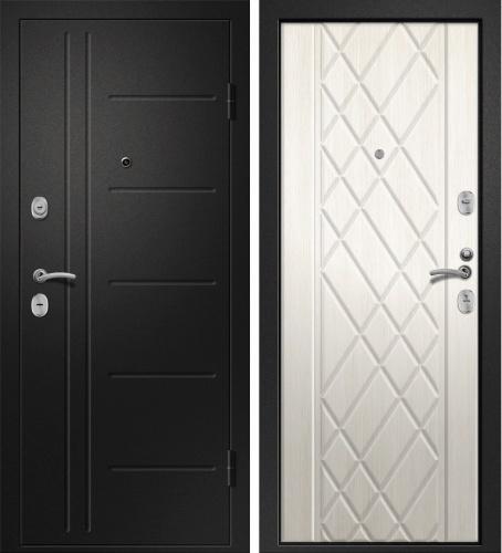 Дверь Медея 311 Металл Черный сатин/МДФ Дуб молочный (880*2050*95*1,4 мм) левая /Минплита/ купить по низкой цене в интернет-магазине okno19.ru