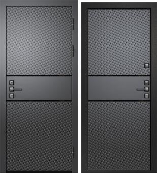 Дверь Орфей-511 МДФ Графит/МДФ Графит (880*2050*105*1,4 мм) левая купить по низкой цене в интернет-магазине okno19.ru