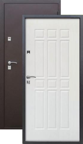 Дверь Сопрано Металл Антик медь/МДФ Дуб молочный (860*2050*68*1,2 мм) левая /Пенополистерол/ купить по низкой цене в интернет-магазине okno19.ru