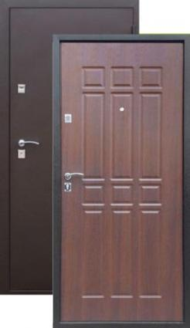 Дверь Сопрано Металл Антик медь/МДФ Дуб шоколад (860*2050*68*1,2 мм) левая /Пенополистерол/ купить по низкой цене в интернет-магазине okno19.ru