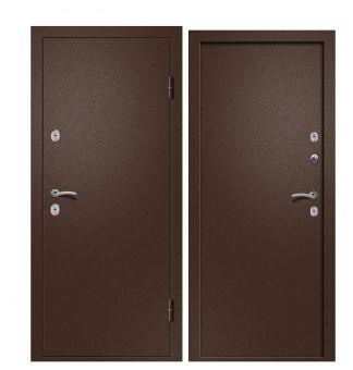 Дверь Триера 1 (ТЕРМОРАЗРЫВ) Металл/Металл Медь антикварная (880*2050*95*1,5 мм) левая купить по низкой цене в интернет-магазине okno19.ru