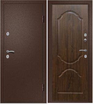 Дверь Триера 21 (ТЕРМОРАЗРЫВ) Металл Медь антикварная/МДФ Дуб темный (880*2050*100*1,4 мм) левая купить по низкой цене в интернет-магазине okno19.ru