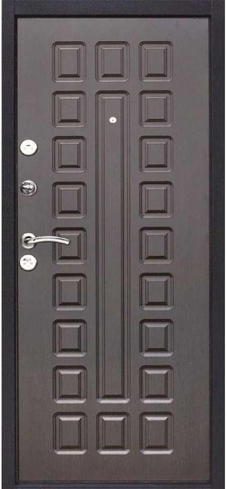 Дверь Йошкар Металл/МДФ Венге (860*2050*70*1 мм) левая /минплита/ купить по низкой цене в интернет-магазине okno19.ru