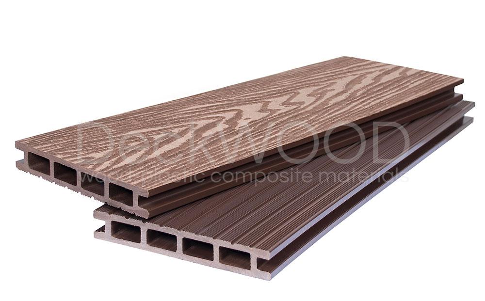 Террасная доска DW Premium NEW 3000*140*23 мм. Мелкий вельвет цвет Коричневый купить по низкой цене в интернет-магазине okno19.ru