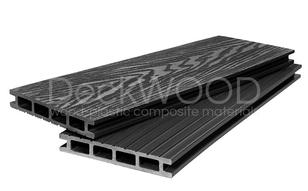 Террасная доска DW Premium NEW 3000*140*23 мм. Широкий вельвет цвет Черный купить по низкой цене в интернет-магазине okno19.ru