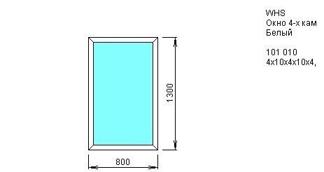 Окно одностворчатое глухое 800*1300 из ПВХ профиля VEKA WHS 4-камерный 60 мм купить по низкой цене в интернет-магазине okno19.ru