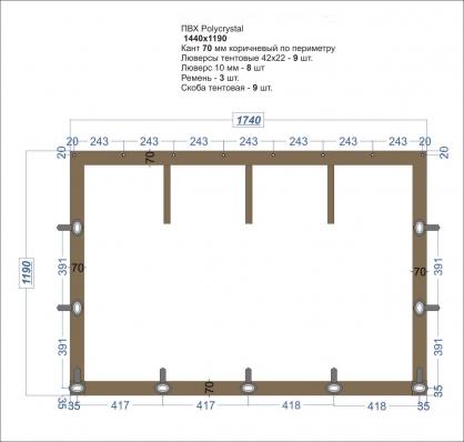 Мягкое окно ПВХ прозрачное 1740*1190 купить по низкой цене в интернет-магазине okno19.ru